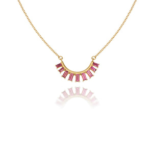 Pink Tourmaline Reflections Necklace by Martha Seely - Talisman Collection Fine Jewelers