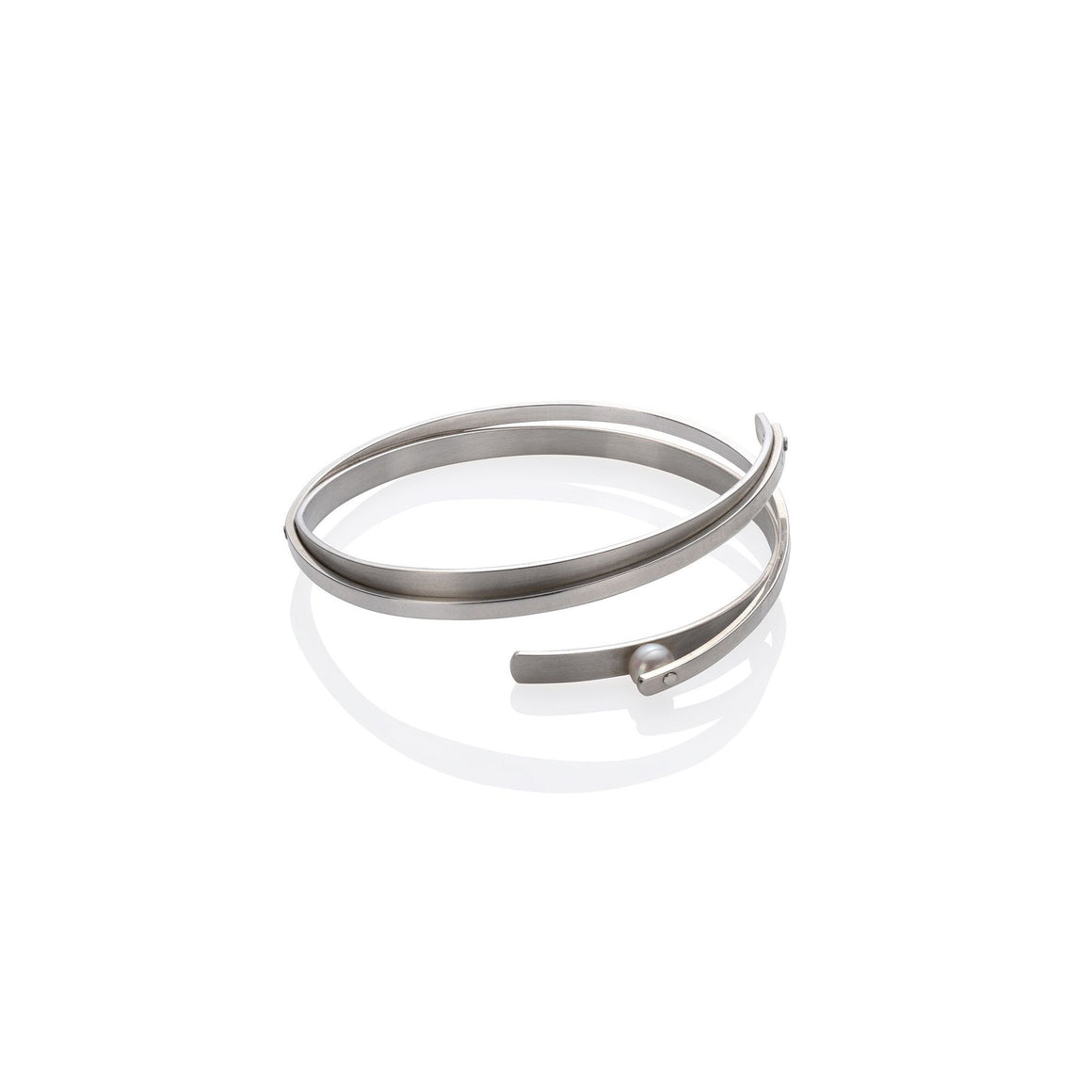 Rivet-Set Pearl Bangle by Martha Seely