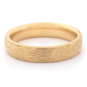 Bark Finish Medium Band by Anne Sportun - Talisman Collection Fine Jewelers