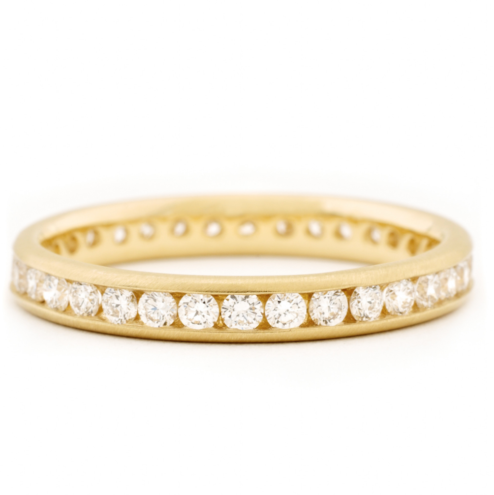 Classic Channel Set Band by Anne Sportun - Talisman Collection Fine Jewelers