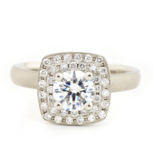 Anne Sportun Cushion Double Halo Engagement Ring - Talisman Collection Fine Jewelers