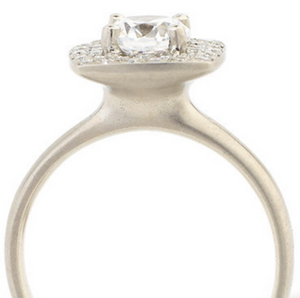 Cushion Double Halo Engagement Ring by Anne Sportun - Talisman Collection Fine Jewelers