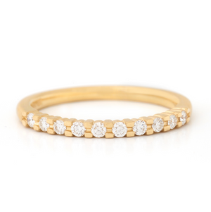Anne Sportun Claw Set Diamond Band