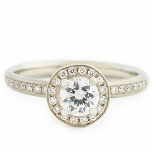 anne sportun diamond halo engagement ring - talisman collection fine jewelers