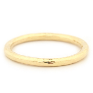 anne sportun gold hammered wedding band - talisman collection fine jewelers