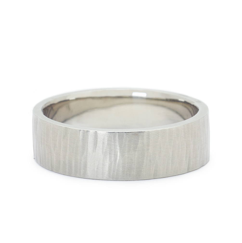 Anne Sportun Line Texture Band - Talisman Collection Fine Jewelers