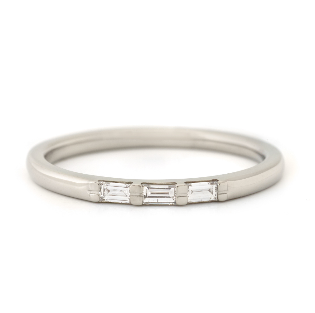 Lively Diamond Baguette Band by Anne Sportun - Talisman Collection Fine Jewelers