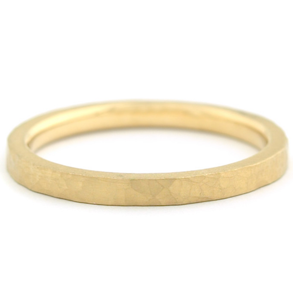 Matte Hammer Texture Band by Anne Sportun - Talisman Collection Fine Jewelers