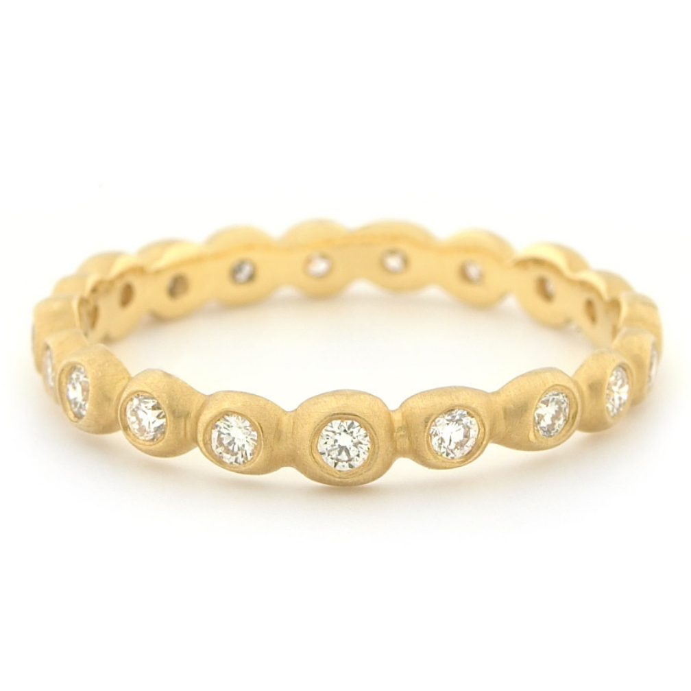 Medium Diamond Seed Band by Anne Sportun - Talisman Collection Fine Jewelers