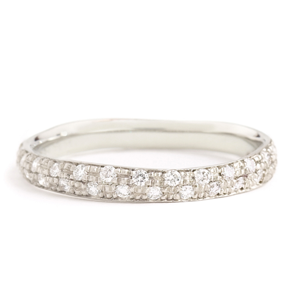 Narrow Pave Diamond Band by Anne Sportun - Talisman Collection Fine Jewelers