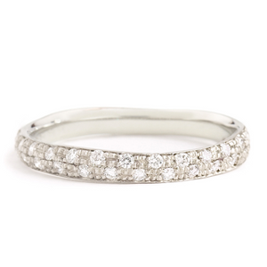 Anne Sportun Narrow Pave Diamond Band - Talisman Collection Fine Jewelers