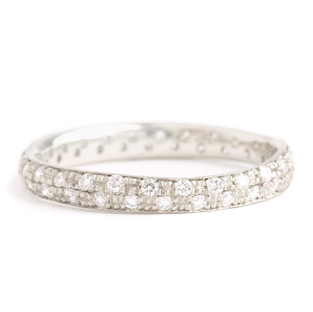 Narrow Pave Full Eternity Band by Anne Sportun - Talisman Collection Fine Jewelers