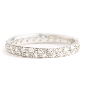 Anne Sportun Narrow Pave Full Eternity Band - Talisman Collection Fine Jewelers