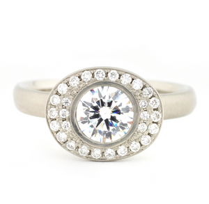 Anne Sportun Oval Double Halo Engagement Ring - Talisman Collection Fine Jewelers