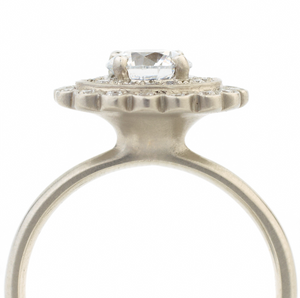 Scalloped Engagement Ring by Anne Sportun - Talisman Collection Fine Jewelers