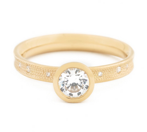 Stardust Bezel Engagement Ring by Anne Sportun - Talisman Collection Fine Jewelers