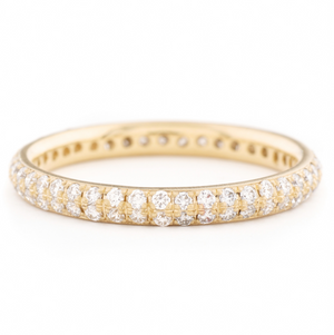 Two Row Pave Band by Anne Sportun - Talisman Collection Fine Jewelers