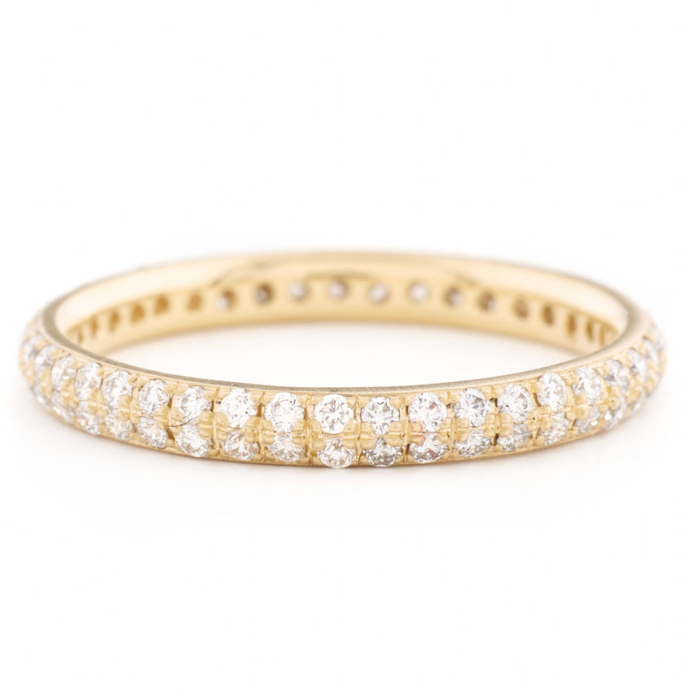 Anne Sportun Two Row Pave Band - Talisman Collection Fine Jewelers