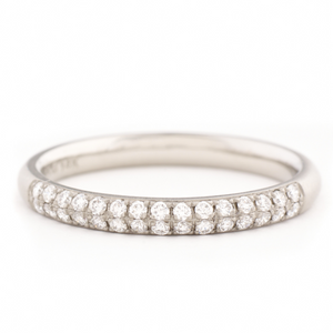 Anne Sportun Two Row Half Eternity Pave Band