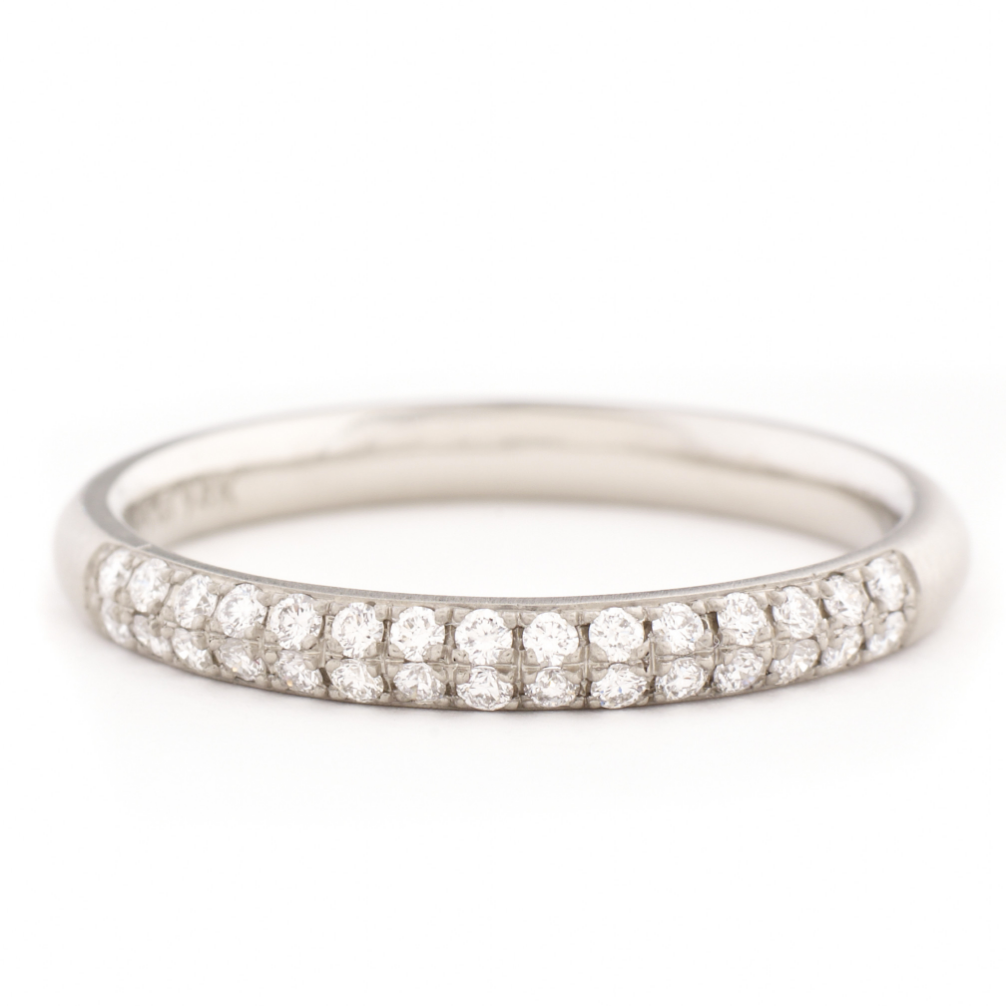 Anne Sportun Two Row Half Eternity Pave Band - Talisman Collection Fine Jewelers