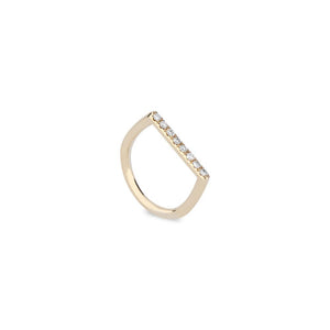 Stacking Square Ring by DRU. - Talisman Collection Fine Jewelers