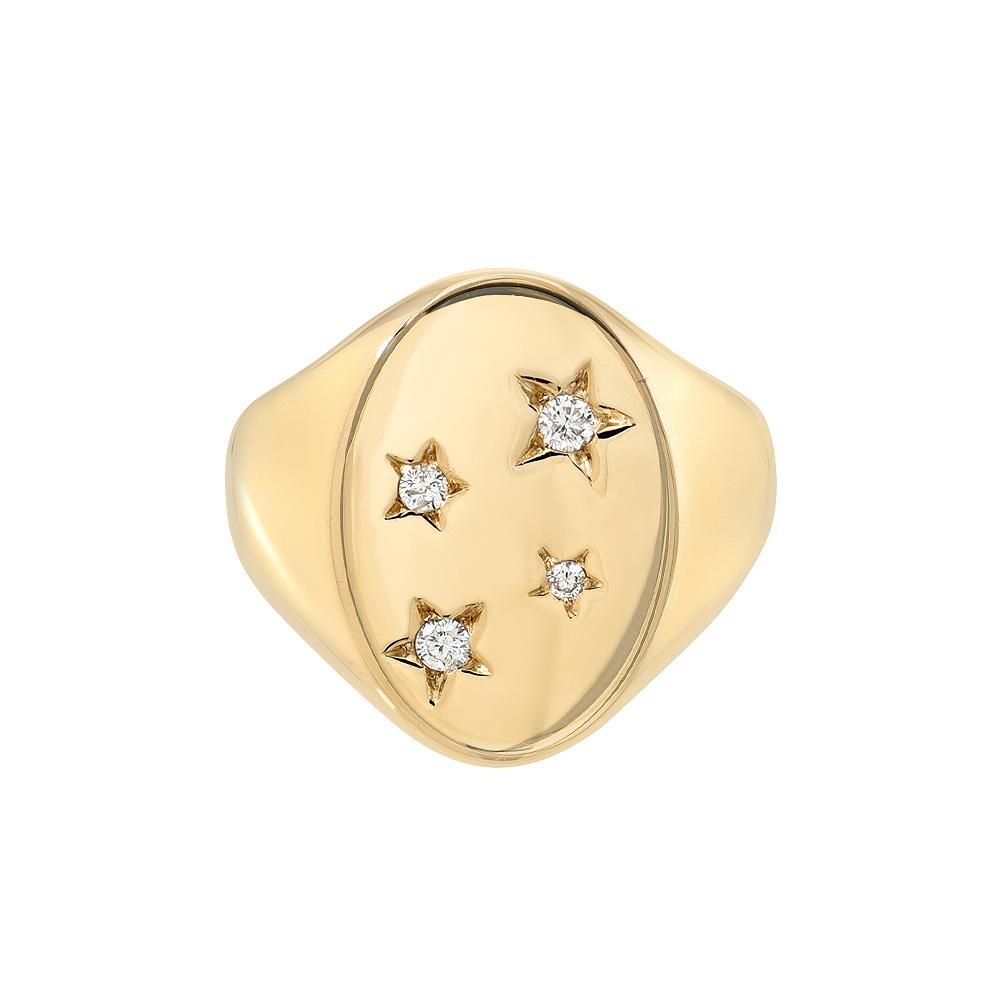 Starry Signet Ring by DRU. - Talisman Collection Fine Jewelers