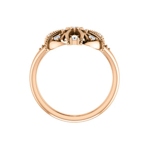 Diamond Vintage-Inspired Ring in White, Yellow or Rose Gold - Talisman Collection Fine Jewelers