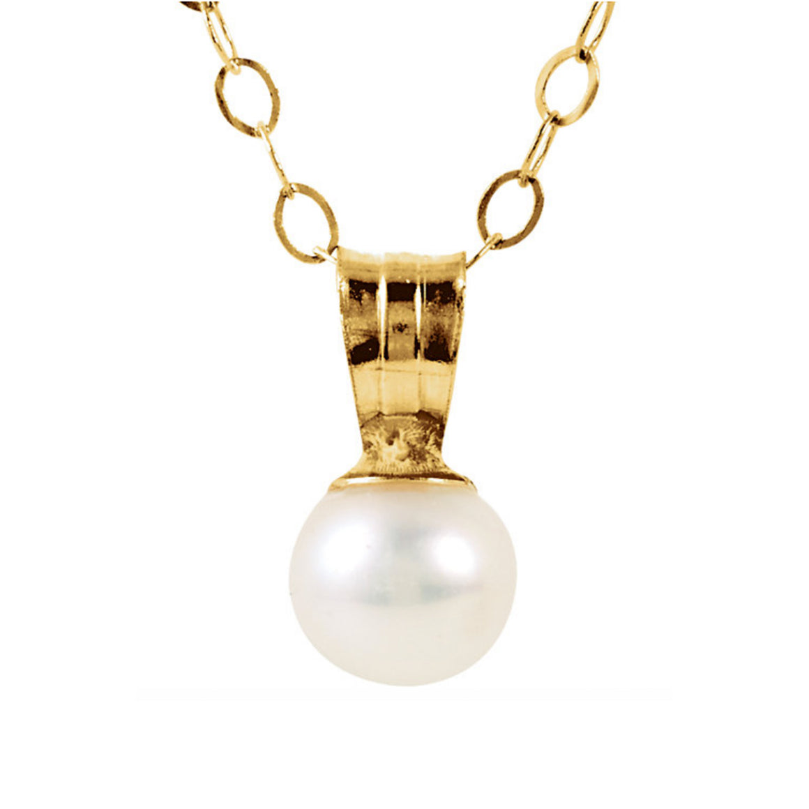 14k Gold Pearl Drop Necklace - Talisman Collection Fine Jewelers