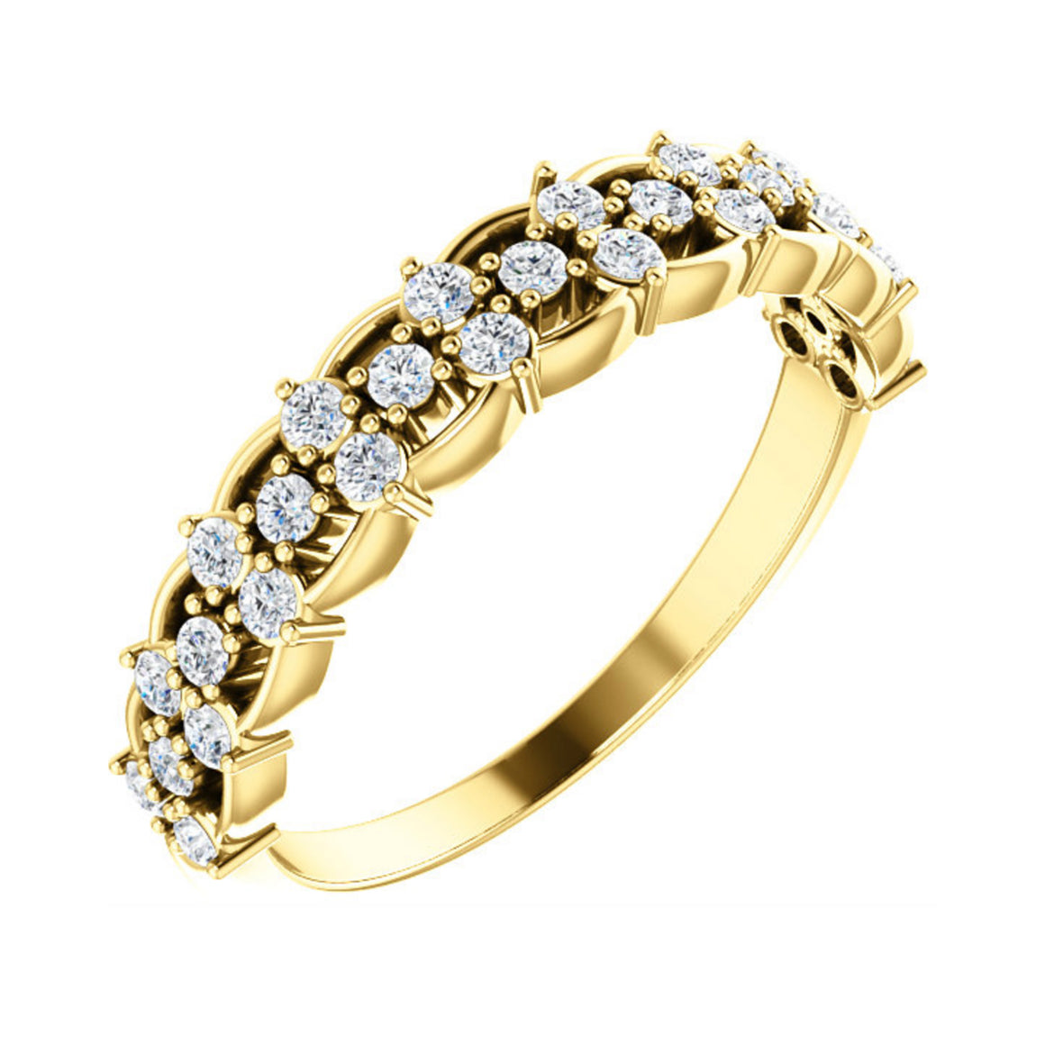 14k Gold 3/8 Carat Diamond Stacking Band - Talisman Collection Fine Jewelers