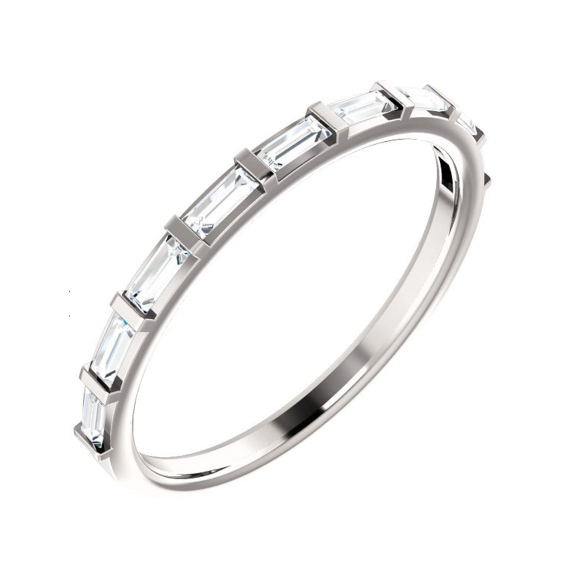 1/4 Carat Straight Baguette Diamond Anniversary Band
