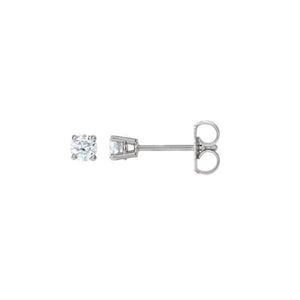 Diamond Stud Earrings, 0.50 Carat Total Weight in 14k White, Yellow or Rose Gold - Talisman Collection Fine Jewelers
