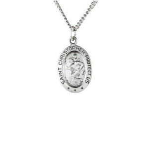 Sterling Silver St. Christopher Necklace - Talisman Collection Fine Jewelers
