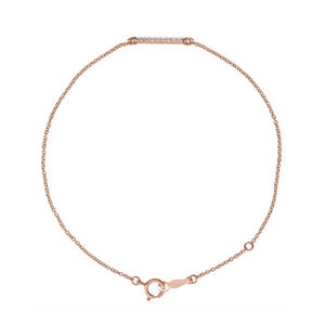 Diamond Bar Bracelet in White, Yellow or Rose Gold - Talisman Collection Fine Jewelers