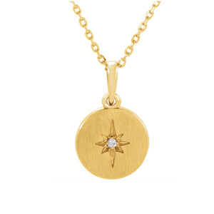 Diamond Starburst Necklace in Gold, Platinum or Sterling Silver - Talisman Collection Fine Jewelers