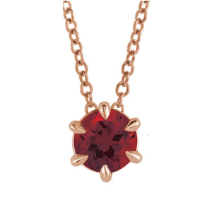 Genuine Gemstone Necklace in White, Yellow or Rose Gold - Talisman Collection Fine Jewelers