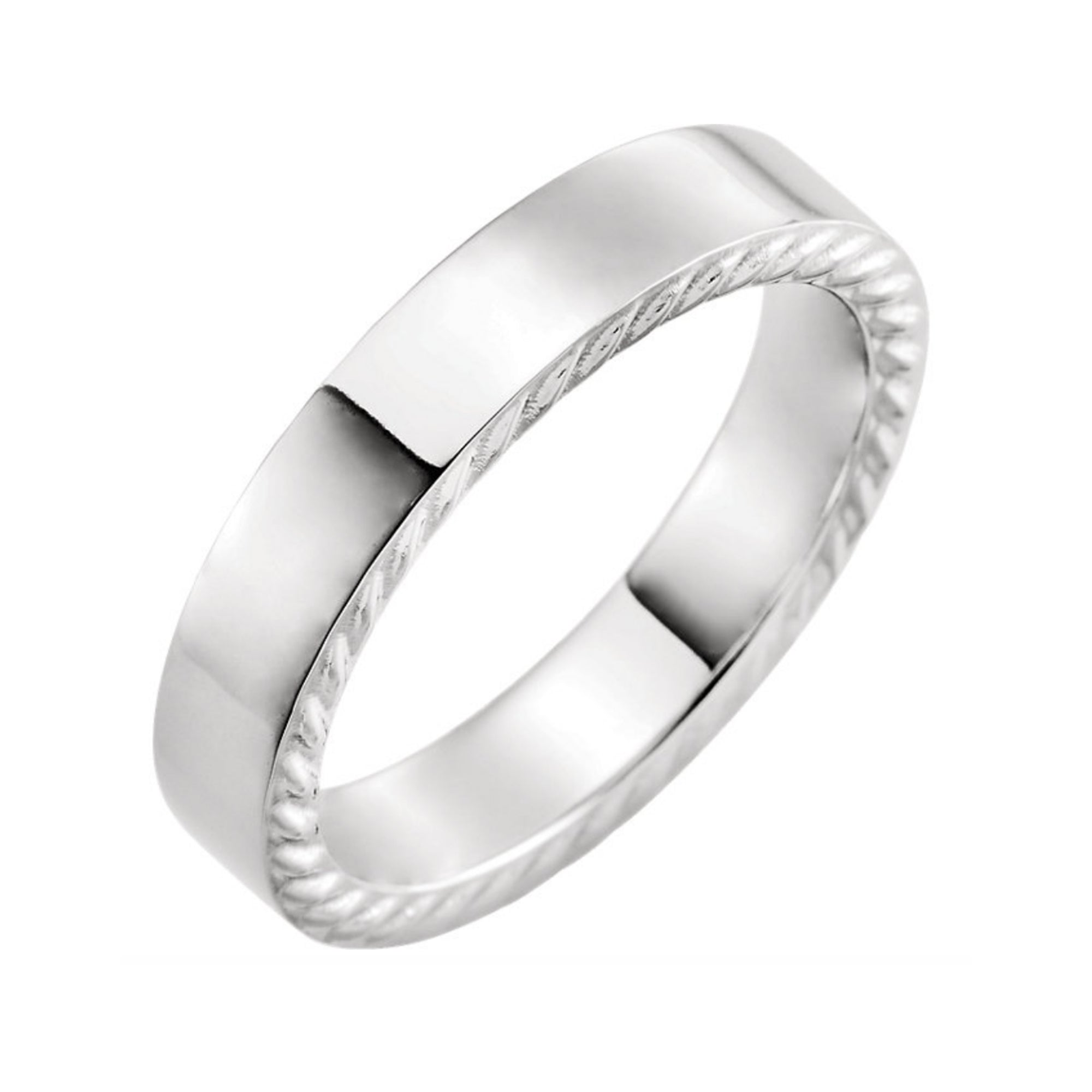 Men's 5mm Platinum Rope Band - Talisman Collection Fine Jewelers