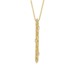 Vintage Inspired Vertical Diamond Bar Necklace - Talisman Collection Fine Jewelers