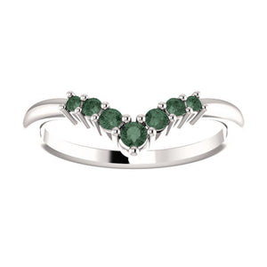 "Alexandrite ""V"" Ring in White, Yellow or Rose Gold - Talisman Collection Fine Jewelers"
