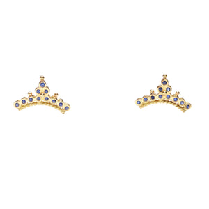 """Diadem"" Sapphire Stud Earrings by Unhada - Talisman Collection Fine Jewelers"