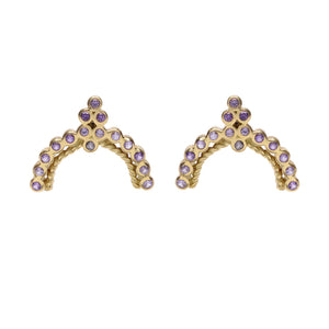 """Duchess"" 18k Yellow Gold Stud Earrings by Unhada - Talisman Collection Fine Jewelers"