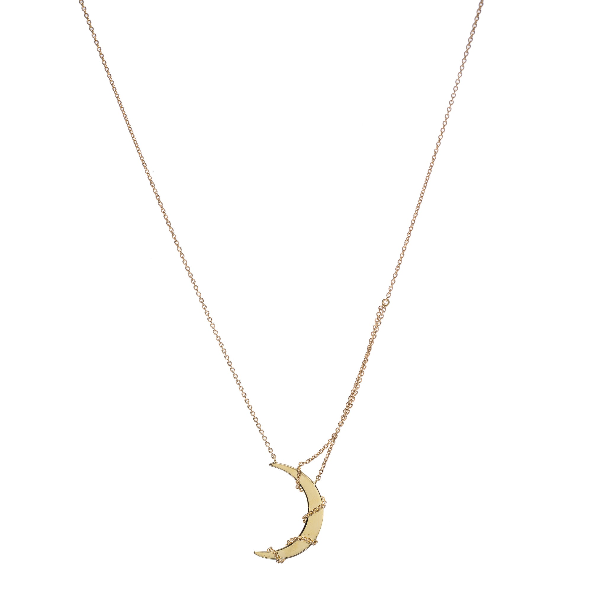 "18k Yellow Gold ""Moon in Chains"" Necklace by Unhada - Talisman Collection Fine Jewelers"