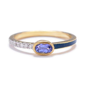 """Tea Party"" Band with Tanzanite and 18k by Unhada - Talisman Collection Fine Jewelers"