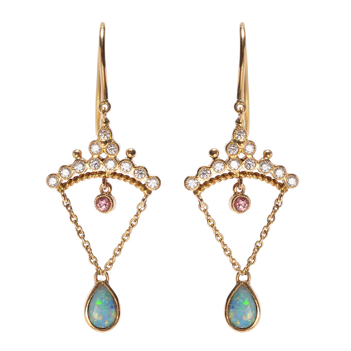 """Diadem"" Australian Opal Earrings by Unhada"