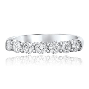 Diamond 7-Stone Stack Band, 1.05 Total Carat Weight - Talisman Collection Fine Jewelers