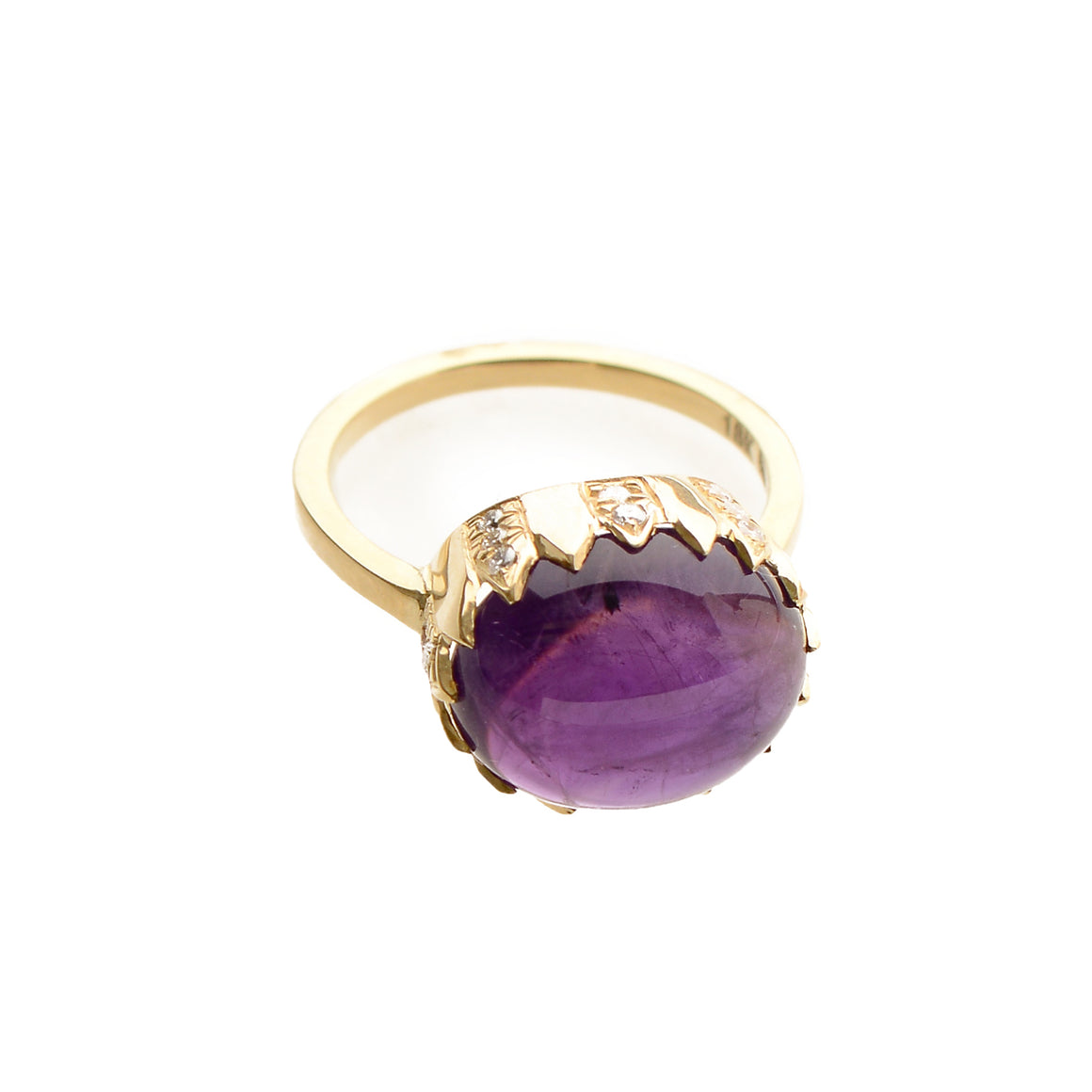"""Fortress"" Amethyst Ring by Unhada - Talisman Collection"