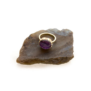 "Amethyst ""Fortress"" Ring by Unhada - Talisman Collection Fine Jewelers"