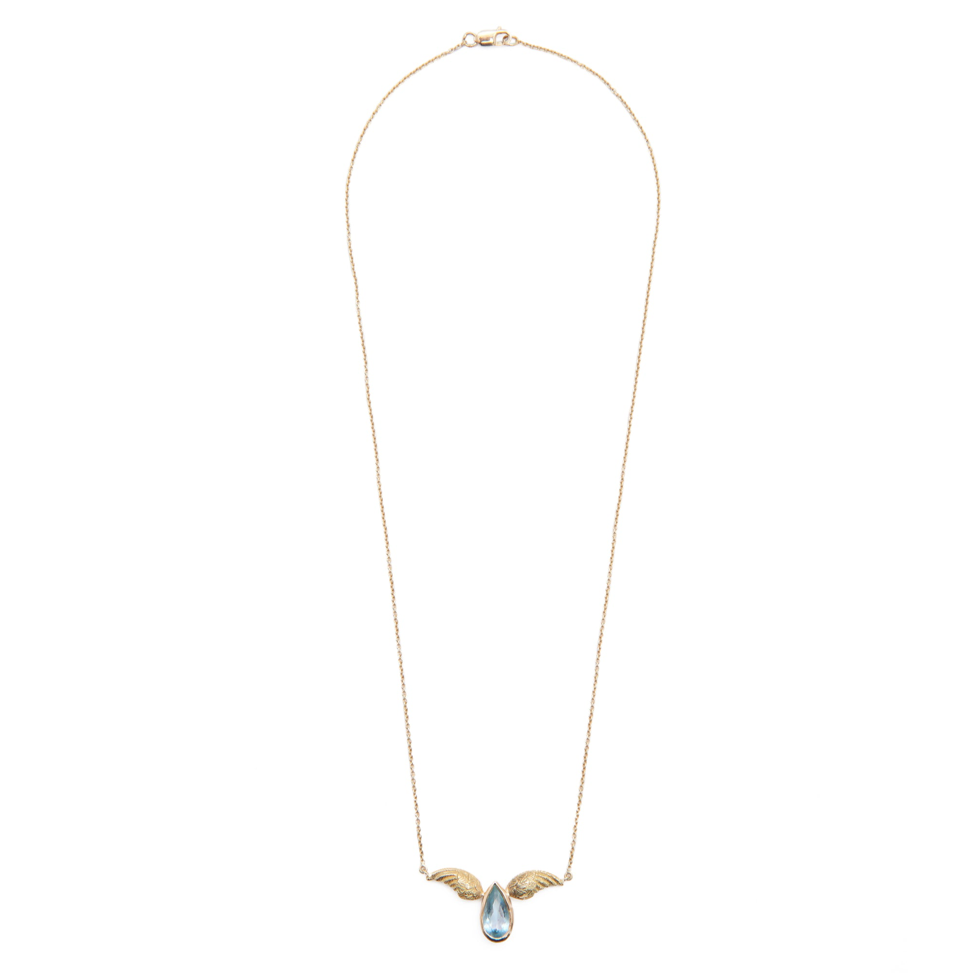 "Aquamarine ""Miniwing"" Necklace by Unhada - Talisman Collection Fine Jewelers"