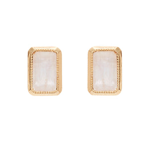 """Essence"" Moonstone Studs by Unhada - Talisman Collection Fine Jewelers"