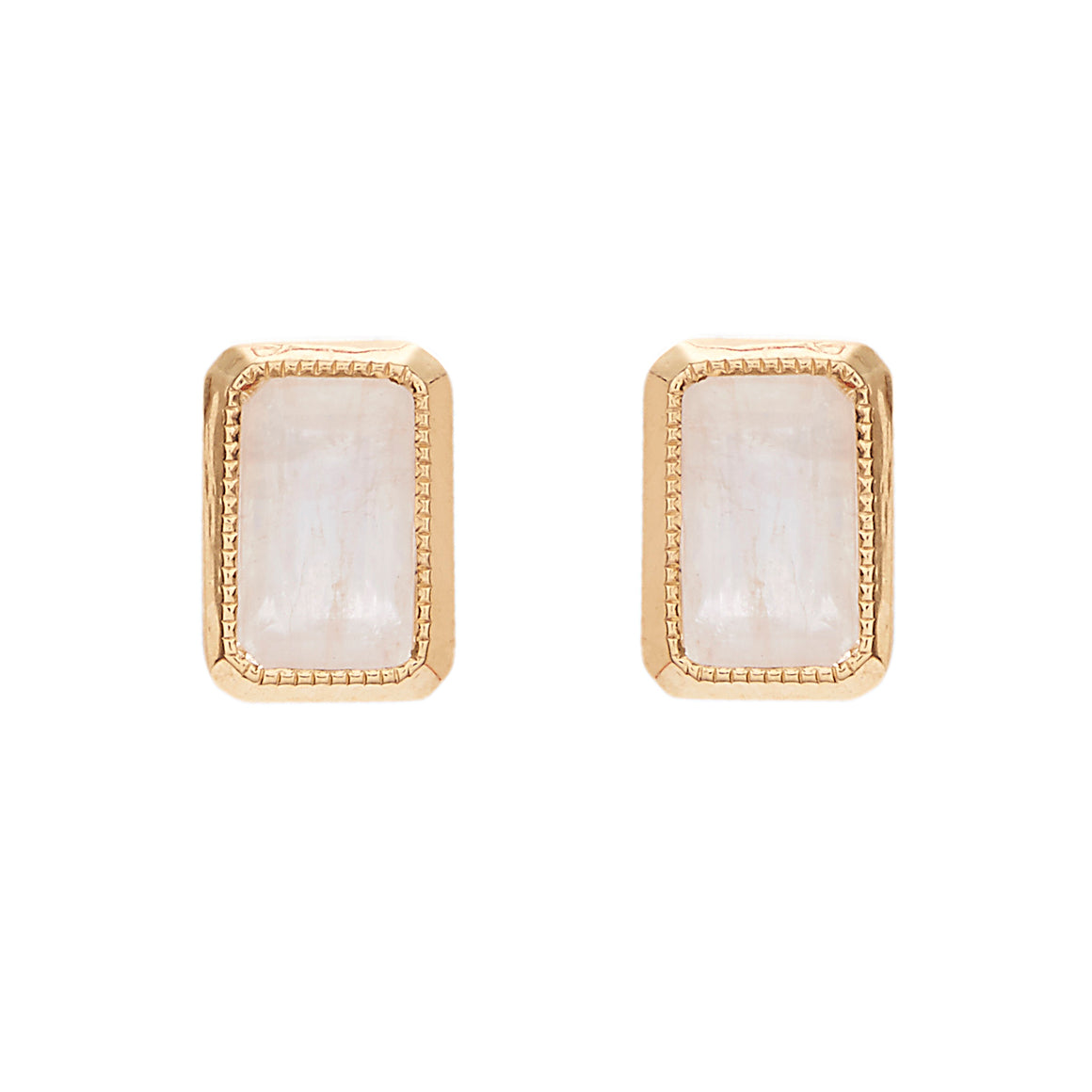 """Essence"" Moonstone Studs by Unhada"
