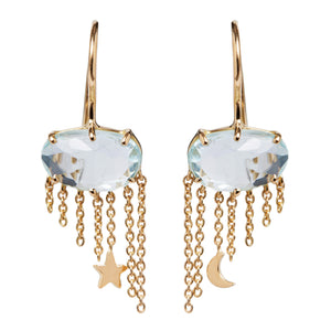 "Aquamarine ""Nimbus"" Earrings by Unhada"